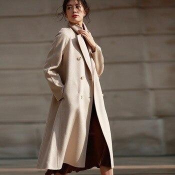 AIGYPTOS classic 2019 nowa falista wełna dwuwarstwowy płaszcz wełniany płaszcz kobiety odzież zimowa