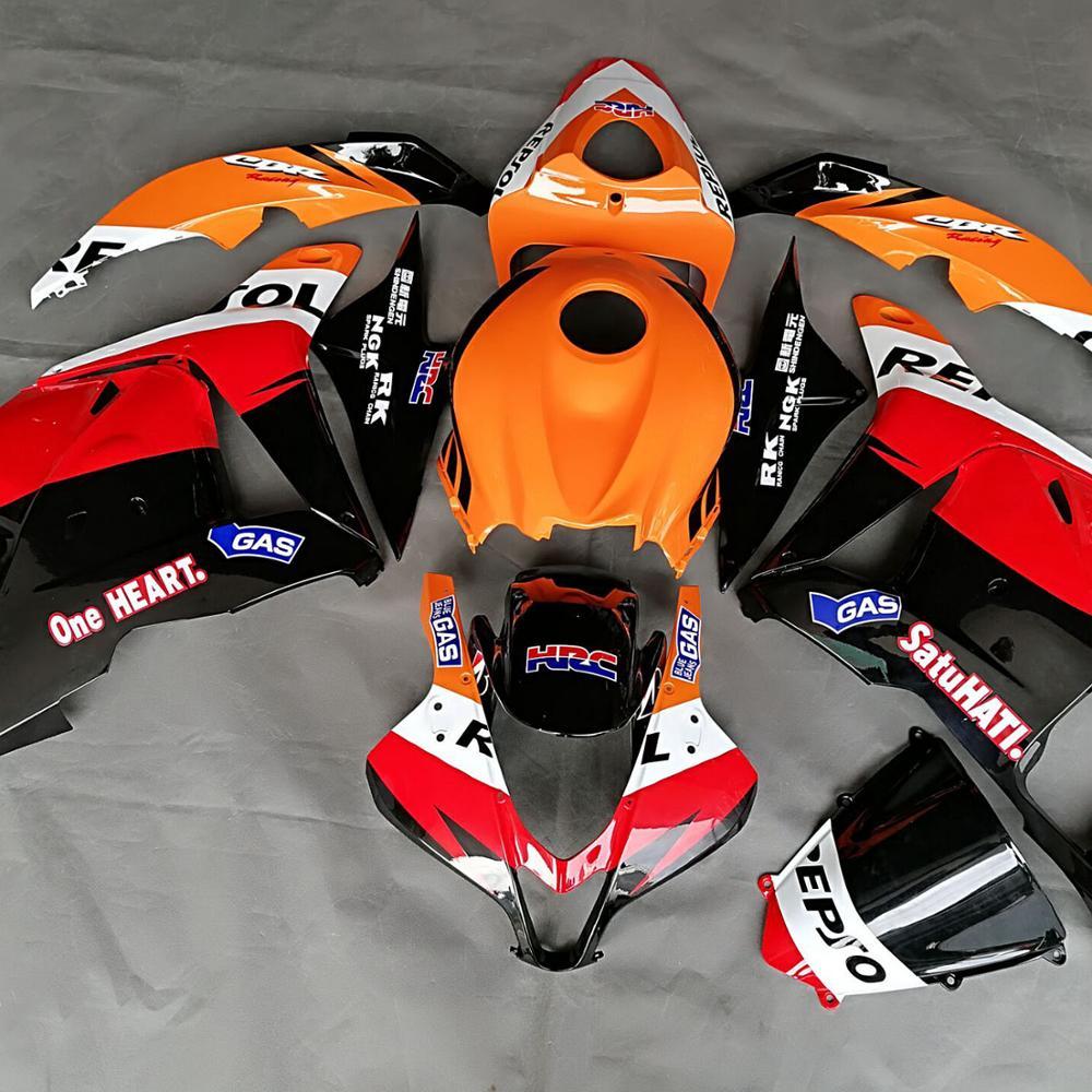 Moule d'injection de moto 100% OEM Fit ABS Kits de carénage pour Honda CBR600RR 2009 2010 2012 carénages Kit de carrosserie F5 09 10 11 12