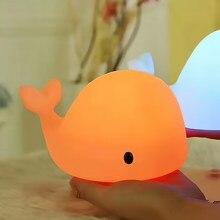 Dolphin – Lampe De Chevet En Silicone Souple Pour Enfants, jolie et colorée, idéal comme cadeau D'Anniversaire