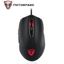 Motospeed v60 Проводная игровая мышь usb 7 кнопок 5000 dpi светодиодсветодиодный