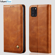 New Vintage Leather Flip Cover For Samsung Galaxy A31 Wallet Case Card Stand Magnet Book Cover Luxury Casual Phone Fundas