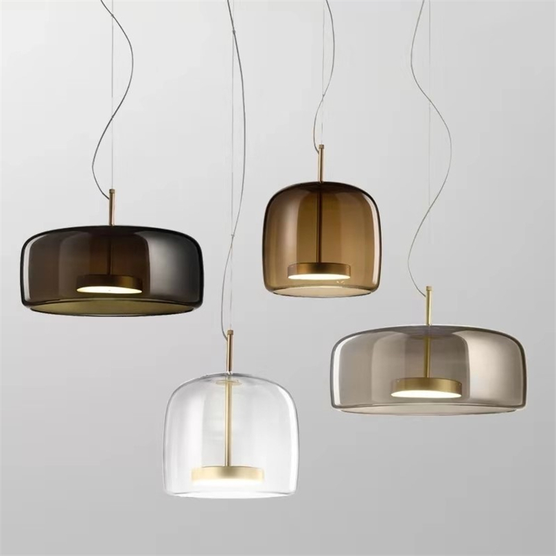 Modern Pendant Lights LED Glass Restaurant Simple Living Dining Room Home Decor Hanglamp Bedside Lamps Designer Light Fixtures