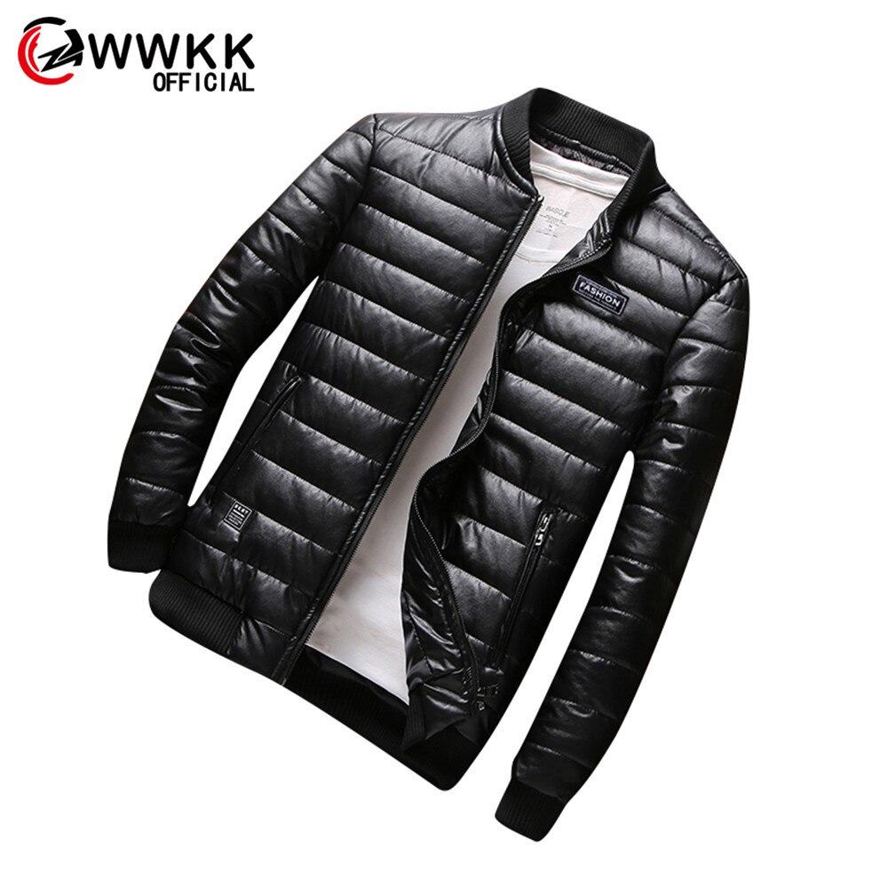 WWKK Men's Jackets Parka Autumn Winter Warm Outwear Brand Slim Male Solid Color Coats Casual Windbreaker Stand Men M-8XL Jackets