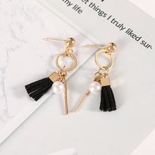 Hot Sale Classic Elegant Long Earrings for Women Fashion Geometric Crystal Black Color Water Drop Earring Jewelry Gifts