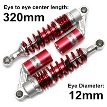Universal 320mm 12.5 Rear Gas Air Shock Absorber Suspension Motorcycle Scooter ATV Quad Red For KTM SUZUKU YAMAHA DDD Honda D15 universal 12 5 320mm motorcycle air shock absorber rear suspension for yamaha motor scooter atv quad black blue silver red