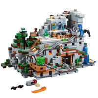 The Mountain Cave Building Blocks With Steve Action Figures Compatible My World MinecraftINGlys Sets Toys For Children 21137
