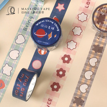 Stationery Masking Label Adhesive-Tape Kawaii Sticker Decorative Animal Cute Bear Heart