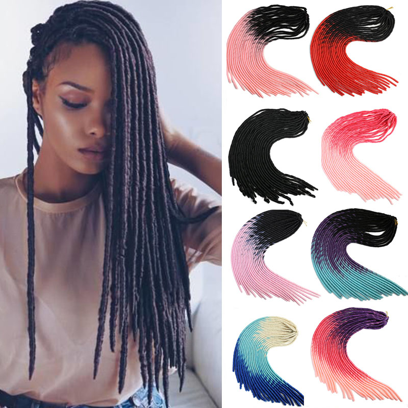 MUMUPI Goddess Faux Locs Crochet Hair Silky Strands 20Inch Soft Natural DreadLocks Synthetic Crochet Braids Hair Extensions