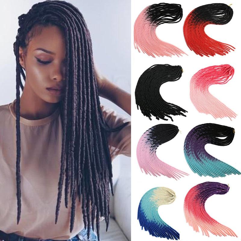 MUMUPI Goddess Faux Locs Crochet Hair Silky Strands 20Inch Soft Natural DreadLocks Synthetic Crochet Braids Hair Extensions