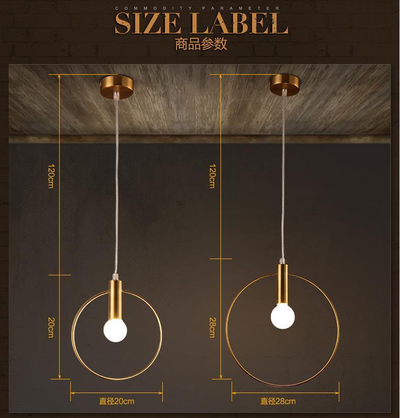 Modern Iron Ring Pendant Lights White Glass Ball Caferoom/bar Lamp Single Glass Pendant Lamps Decoration Indoor Lighting E27 S