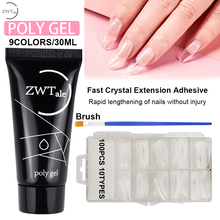ZWTale Poly Gel Set 30g Quick Building Polygel Crystal Jelly Hard Poligel Acrylic Soak Off Nail Extension gel Builder