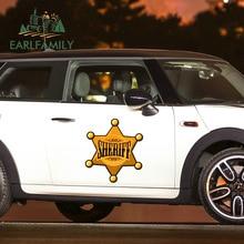 EARLFAMILY 43cm x 38,4 cm für Sheriff Abzeichen Lustige Auto Aufkleber Vinyl Wasserdichte RV VAN Auto Zubehör JDM Anime auto Tür Aufkleber
