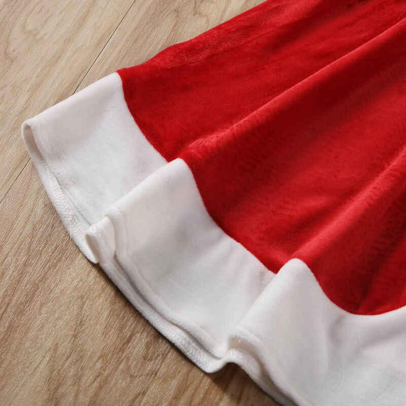 Xmas Merah Anak Jubah Balita Gadis Berkerudung Putri Cape Mantel Bulu Jubah Natal Pesta Kostum Fancy Dress