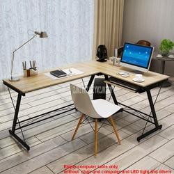 L-Bentuk Menulis Kantor Meja Sudut Meja Komputer Kayu Sudut Kanan PC Laptop Meja Perabotan, Perlengkapan Peralatan Rumah Tangga Game Belajar meja Baja Bingkai