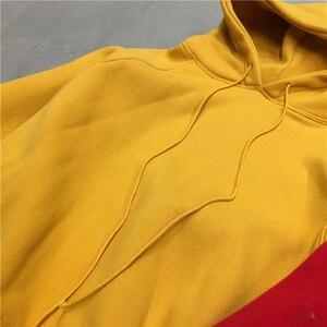 Image 5 - Sweat à capuche pour femmes, Ulzzang Harajuku, couleur unie, sweat shirt à capuche, grande taille, mode hiver, 2020, sweat à capuche avec cordon