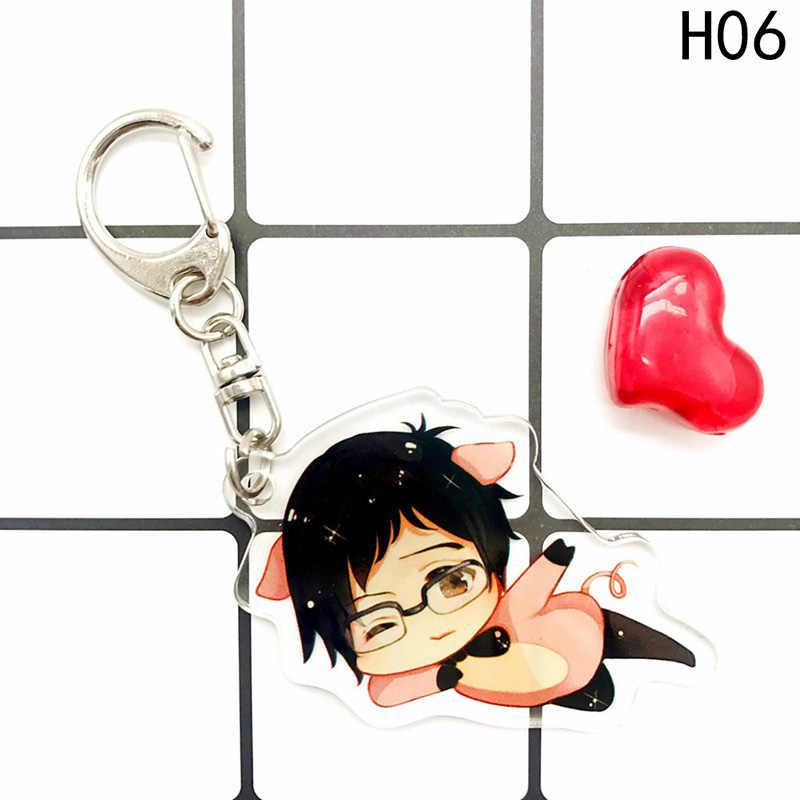 Hot Anime Yuri YURI no GELO Chaveiro Victor Nikiforov Katsuki Pingente Chaveiro Cosplay Saco Do Telefone Pingente chaveiro