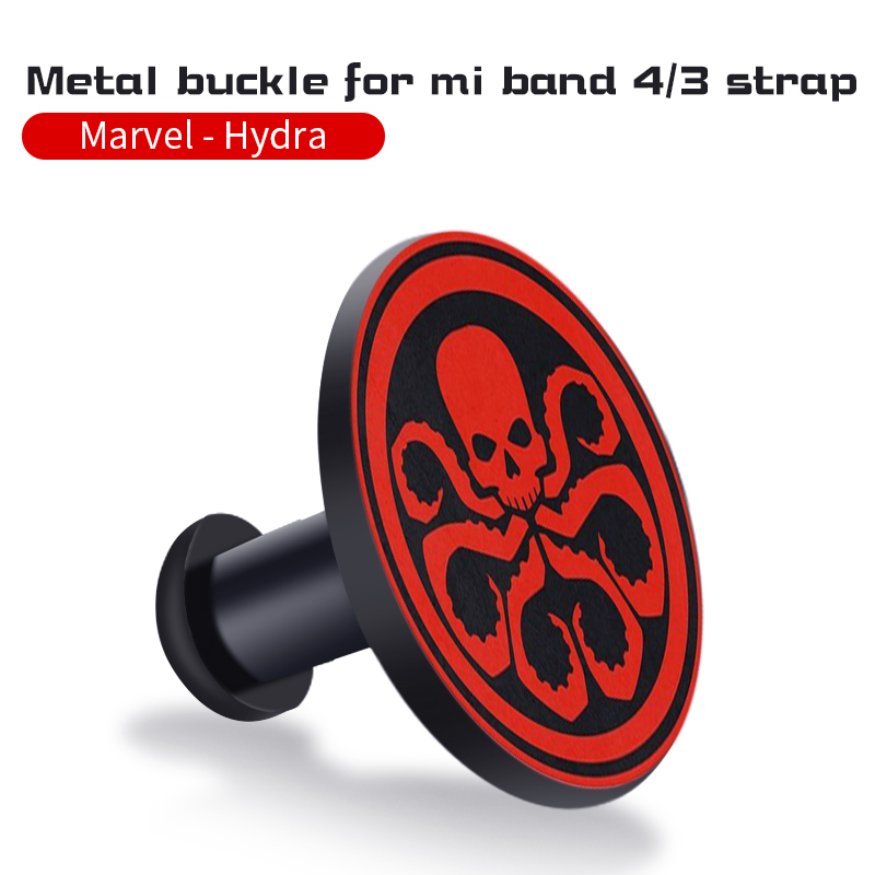 Для Xiaomi Mi Band 4/3 ремешок Металлическая пряжка силиконовый браслет аксессуары miband 3 браслет Miband 4 ремешок для часов М - Цвет: Hydra