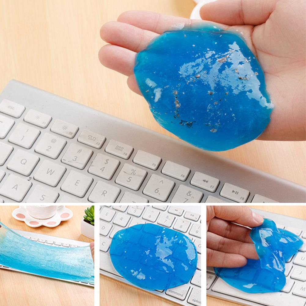 High-Tech Magic Dust Cleaner Cleaning Gel For Keyboard Cleaner Compound Super Clean Slimy Gel For Phone Laptop Random Color