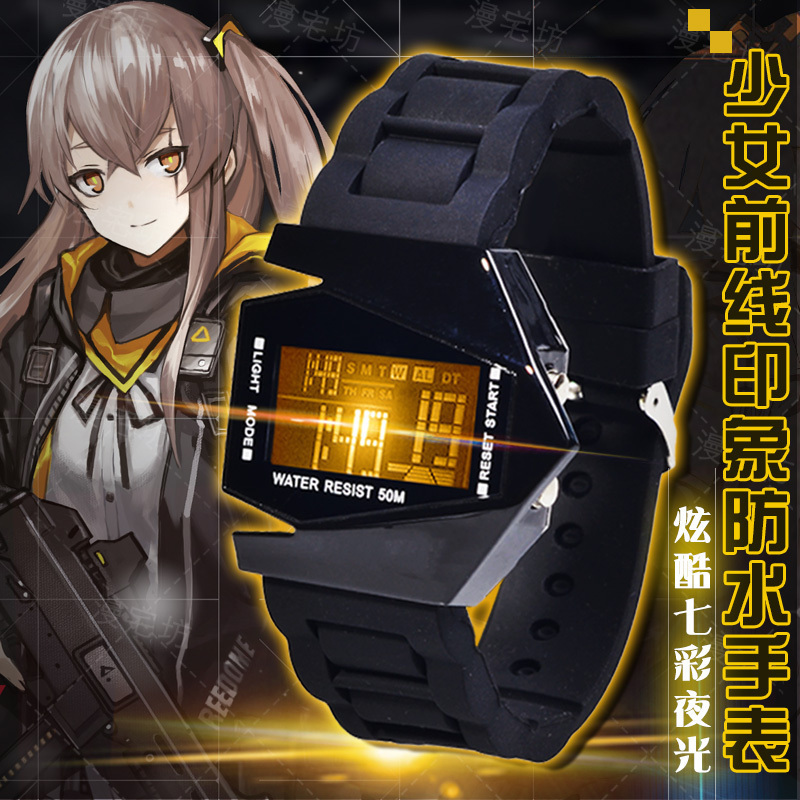 Game Girls Frontline Cosplay Ump45 404 Griffin LED Electronic Waterproof Touch Screen Watch Wristwatch ACG Gift