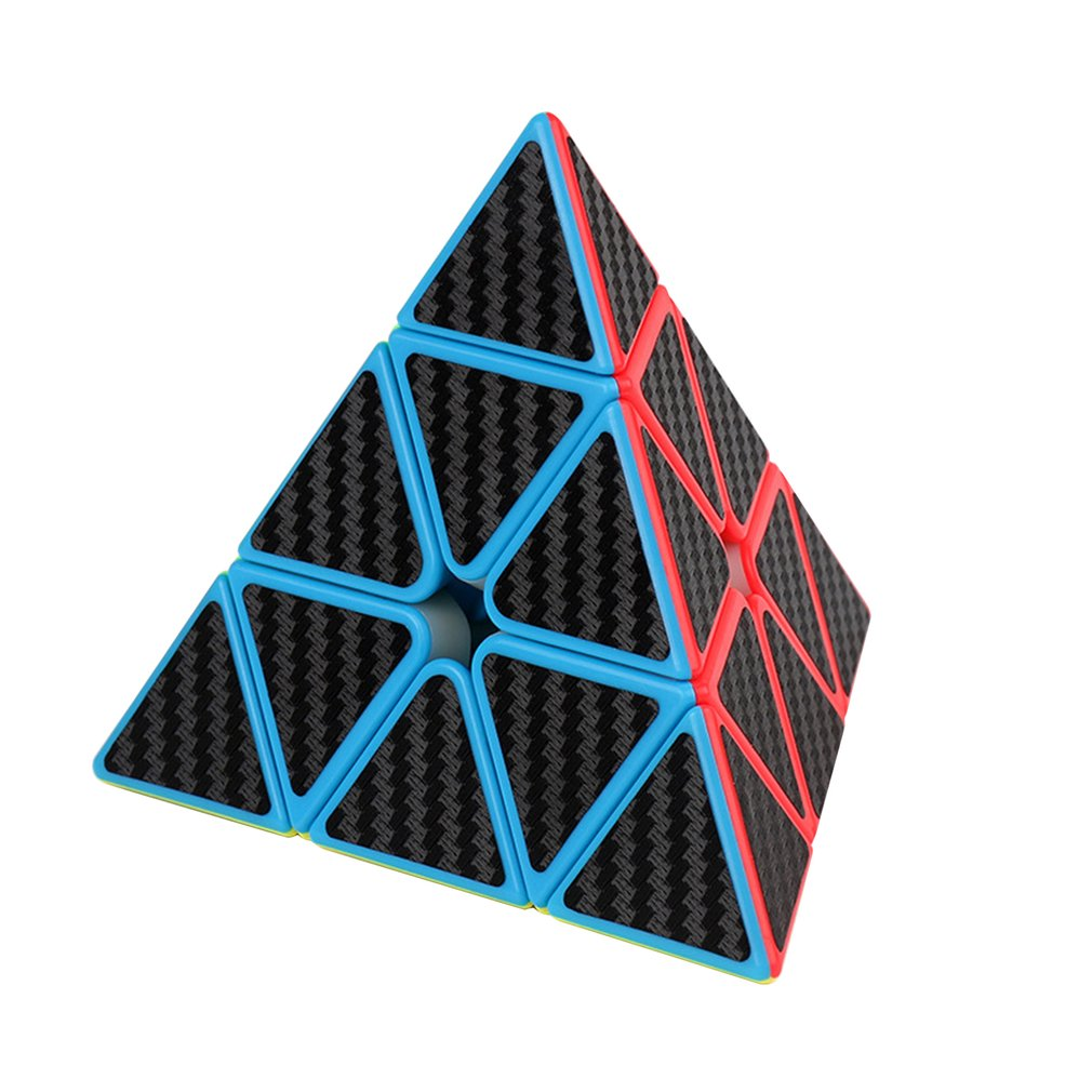 Magic Cube Pyramid Multi-Order Magic Cube Carbon Fiber Sticker Series Magic Cube Children'S Educational Toys
