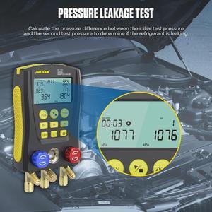Image 3 - AUTOOL LM120 + klima manifoldu dijital vakum ölçer soğutma HVAC vakum basınç sıcaklık test cihazı PK Testo