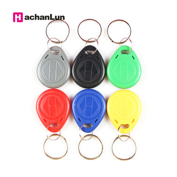 10 Pcs/lot EM4305 Copy Rewritable Writable Rewrite ID keyfobs RFID Tag Key Ring Card 125KHZ Proximity Token Access Duplicate free shipping 10pcs 125khz rfid proximity id token tag key keyfobs keychain chain plastic for access system green color
