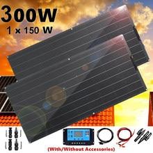 Panel solar placa solar flexible 12v 300w kit sistema cargador batería para 12v/24v coche RV barco caravana camper senderismo camping autocaravana 1000w impermeable autocaravana