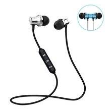 Música magnética bluetooth fone de ouvido esporte correndo sem fio bluetooth fone com microfone para iphone android todo o telefone inteligente