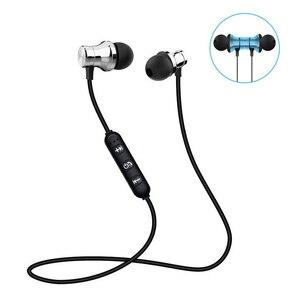 Image 1 - Magnetic Bluetooth หูฟังไร้สายบลูทูธพร้อมไมโครโฟนสำหรับ IPhone Android โทรศัพท์สมาร์ททั้งหมด