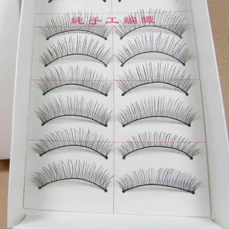 10 Pair 3D Mink Hair False Eyelashes Party Black Long Thick Cross Bushy Extension Eye Lashes Makeup Beauty Extension Tools