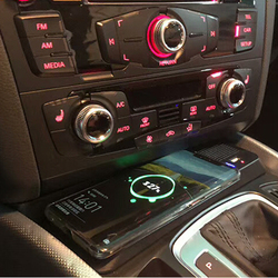 15 Вт автомобильное беспроводное зарядное устройство QI для Audi Q5 2009-2017 SQ5 2014-2017 charing palte аксессуары для беспроводного зарядного устройства теле...
