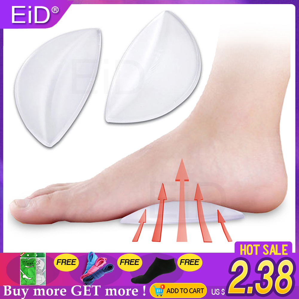 Silicone Gel Orthotics Men Women FlatFoot Correction Art Support Insoles Children Flatfoot Corrector Orthopedic Shoe Soles Spur