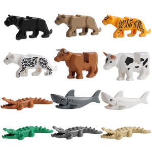 Animal Series Children's Educational Science Teaching Animal Building Blocks Toys Crocodile Tiger Model Figures For Kids Gifts