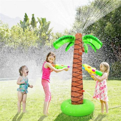170cm inflavel spray de agua coco arvore verao criancas jogar agua brinquedo jogos ao ar
