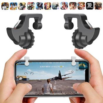 PUBG Mobile Joystick Controller Gamepad Call Of Duty L1 R1 Mobile Gaming Trigger Button Shooter Phone Gamepad Fire Trigger HOT m24 abs gaming trigger fire button mobile phone shoot controller universal phone gamepad trigger gaming parts