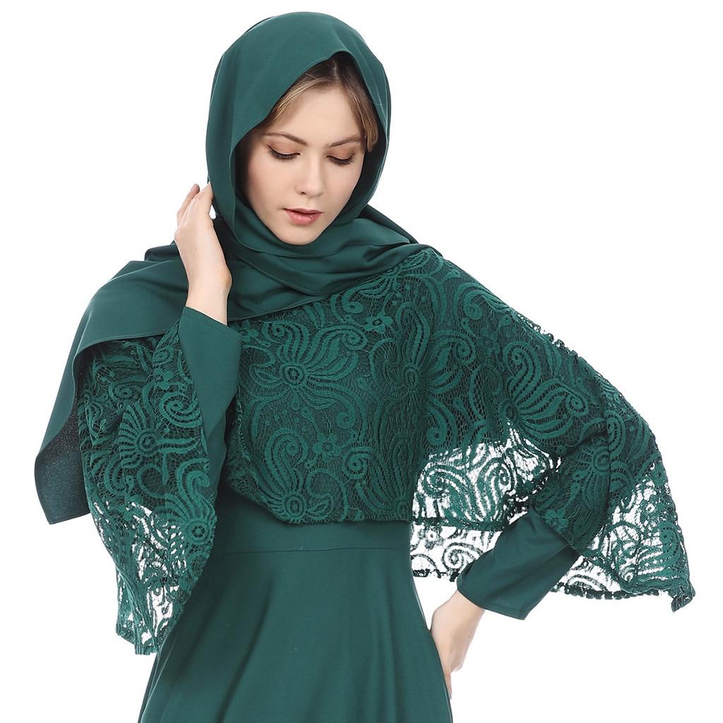 Muslim Dress Robe Dubai  Women Turkish  Islamic Clothing Arab Ladies Caftan Kaftan Malaysia Women Muslim Dresses  8.8