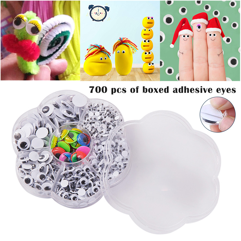 700 Pcs Self Adhesive Jiggle Eyes Muticolors for Crafts DIY Cards Scrapbooks YE-Hot