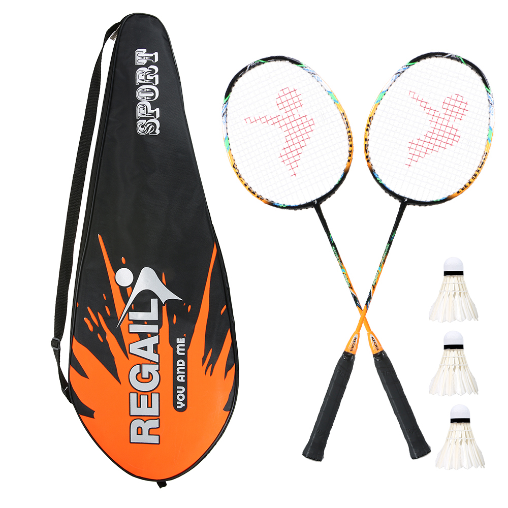 Badminton Set 2 Player Badminton Bat Replacement Set Ultra Light Carbon Fiber Badminton Racquet With Bag Sport Gym Exercise