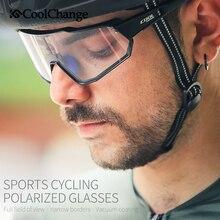CoolChange occhiali da ciclismo fotocromatici da corsa sport allaria aperta MTB Bike occhiali da sole UV400 uomo donna occhiali da bici da strada occhiali