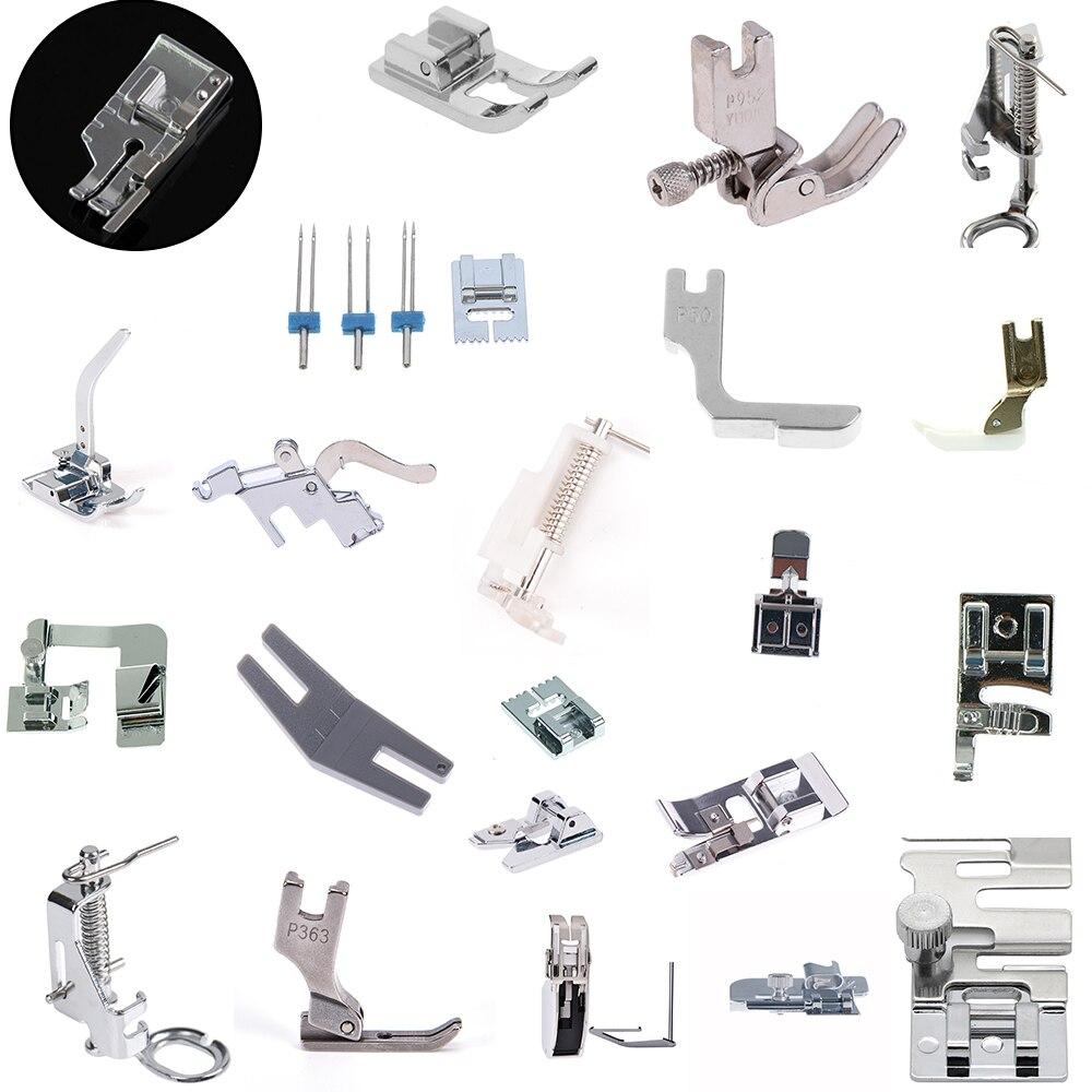 1 шт., аксессуары для бытовой швейной машины, набор лапок для ног, запасные части для ступни Brother Singer Janome
