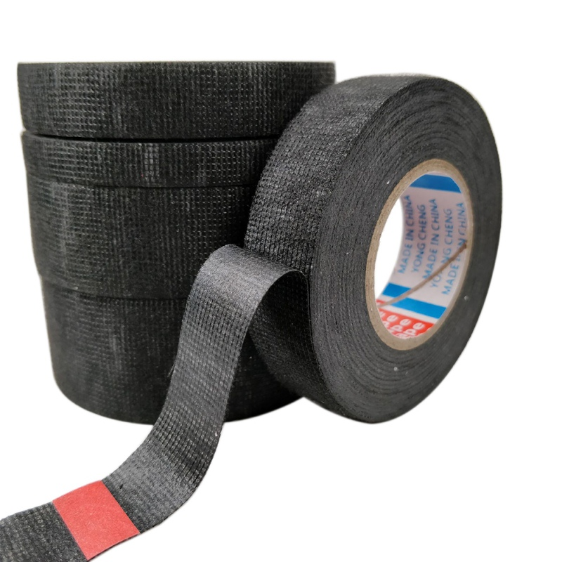 Adhesive Cloth Tape For Cable Harness Wiring Loom Width 9/15/19/25/32MM Length15M Car Velvet Retardant Tape(China)