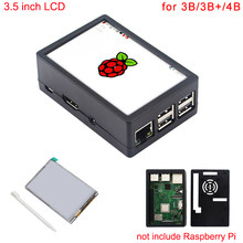 3.5 polegada 3 Raspberry Pi Modelo B + Touchscreen 480*320 Display LCD + Toque Caneta + Caso ABS 4 caixa para Raspberry Pi Modelo B/3B +/3B(China)