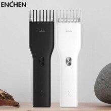 Машинка для стрижки волос ENCHEN Boost Мужская электрическая, профессиональная аккумуляторная керамическая машинка для волос, двухскоростной т...