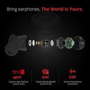 Image 2 - 1 יותר E1026 TWS אוזניות אלחוטי אוזניות Bluetooth 5.0 תמיכה aptX ו AAC HD Bluetooth תואם IOS אנדרואיד Xiaomi טלפון