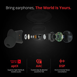 Image 2 - 1MORE E1026 TWS Earphone Wireless Earbuds Bluetooth 5.0 Support aptX & AAC HD Bluetooth Compatible IOS Android Xiaomi Phone