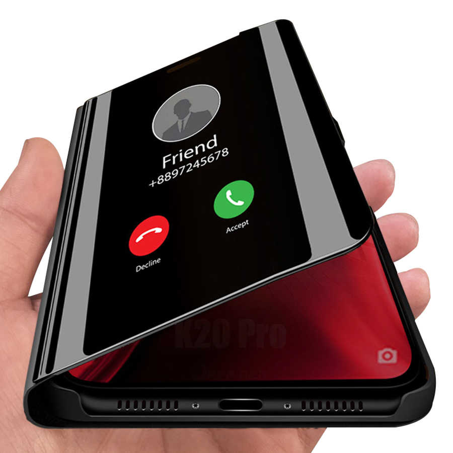 พลิกกรณียืนสำหรับ Xiaomi Redmi หมายเหตุ 9s PRO MAX Mi 10 9T 8T 8 SE Lite 8A A2 A3 CC9 K30 5G Pocophone F1 กระจกฝาครอบหนัง