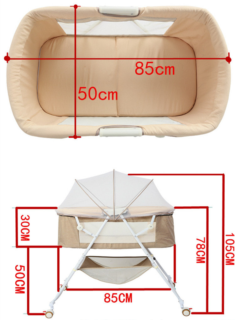 H10310459c872442db3a6bbf75b77af6aI Travel bed easy fold sleeping next Baby Nest Crib Portable Removable rocking chair Travel Bed For Children Infant Kids basket