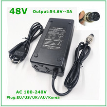 48V Li ion pil şarj çıkışı 54.6V 3A için 48V elektrikli bisiklet lityum pil paketi 3 Pin dişi konnektör GX16 XLR 3 soket
