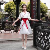 Photograph cosplay Hanfu Improving the routine Chinese chivalrous style embroidery class graduation performance boudoir Costume