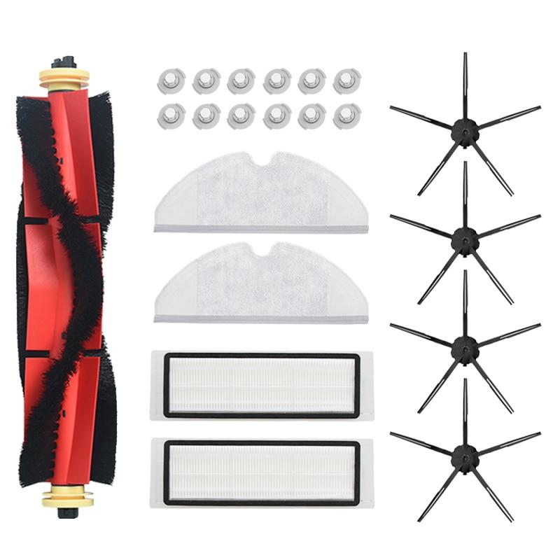 Vacuum Cleaner Brush Hepa Filter Set For Xiaomi Roborock S50 S6 S60 S65 S55 S5